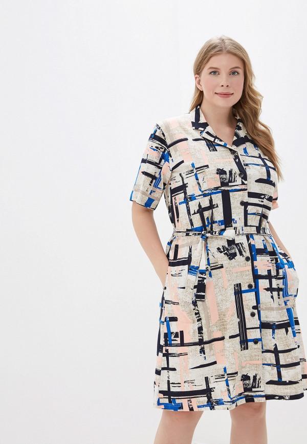 Фото - Платье домашнее Лори бежевого цвета