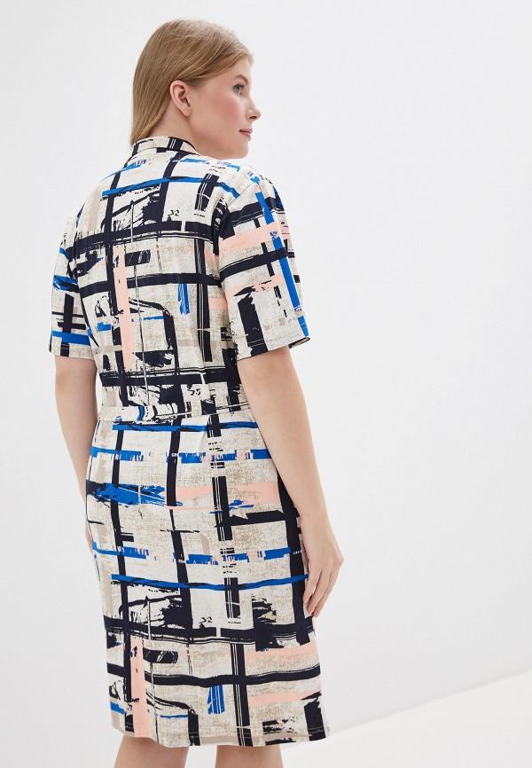 Фото 3 - Платье домашнее Лори бежевого цвета