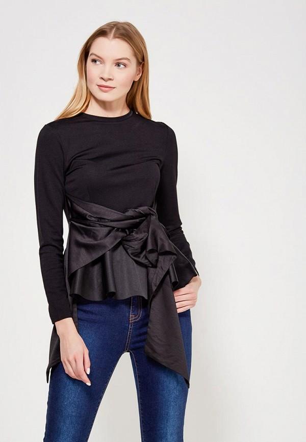 женская блузка lost ink petite, черная