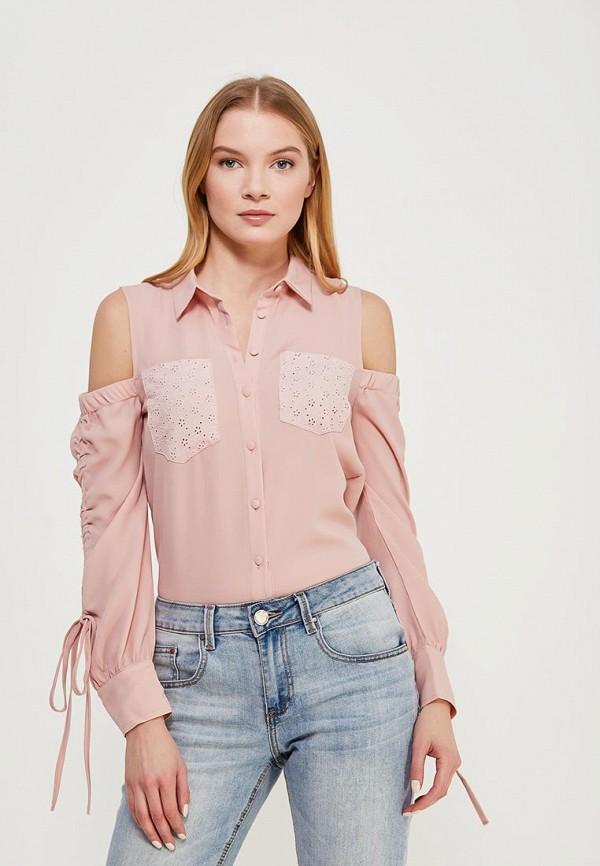женская блузка lost ink petite, розовая