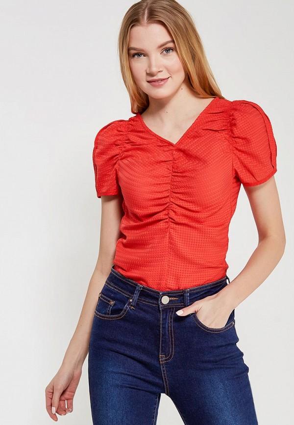 женская блузка lost ink petite, красная
