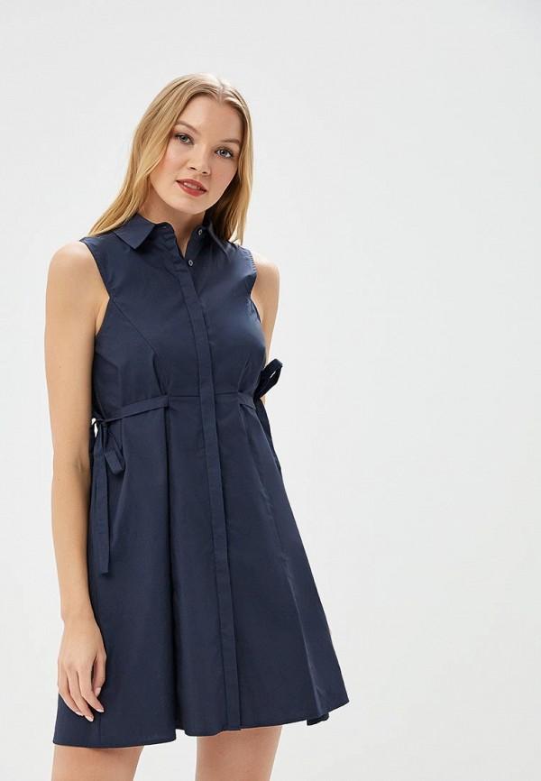 Купить Платье Lost Ink Petite, P TIE SIDE SHIRT DRESS, lo040ewbbqw1, синий, Весна-лето 2018