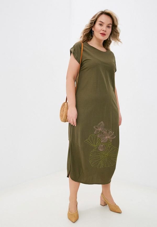 женское повседневные платье lorabomb, хаки