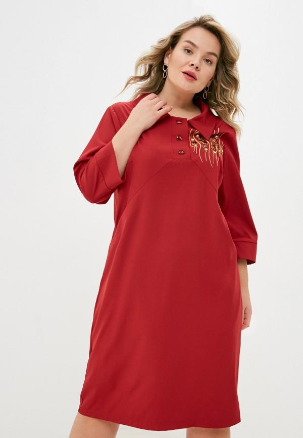 женское повседневные платье lorabomb, бордовое