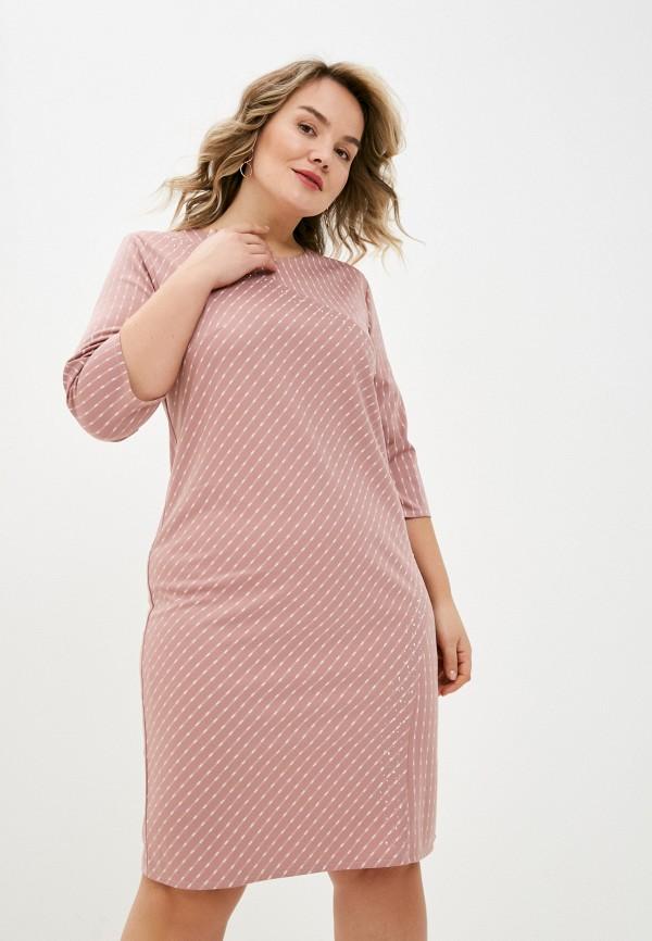 женское повседневные платье lorabomb, розовое