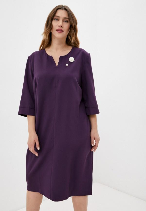женское повседневные платье lorabomb, фиолетовое