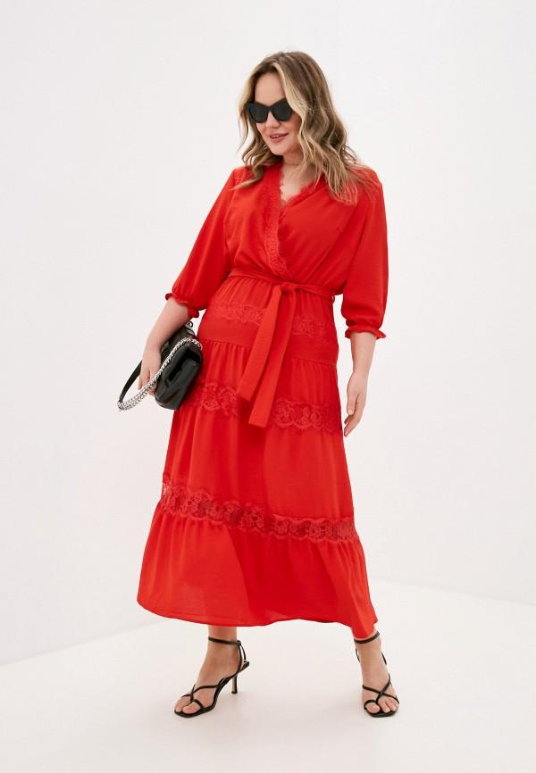 женское повседневные платье lorabomb, красное
