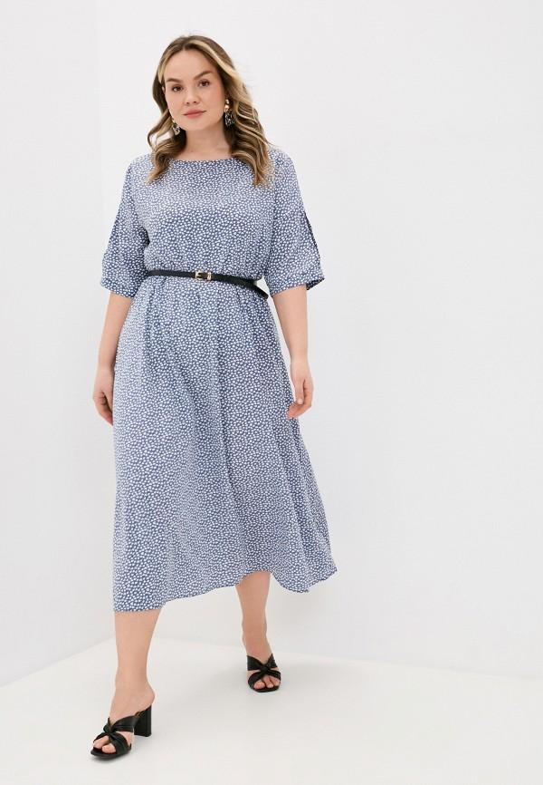 женское повседневные платье lorabomb, голубое