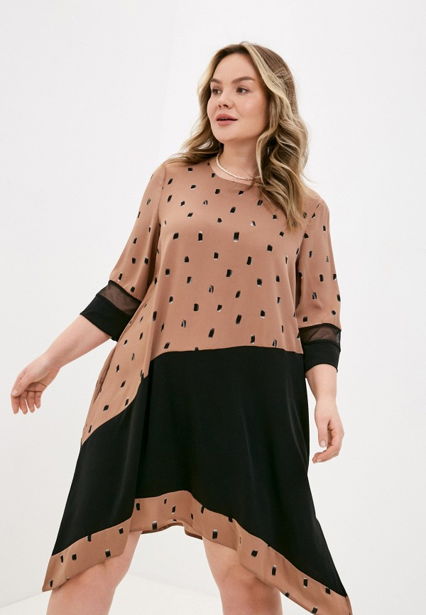 женское повседневные платье lorabomb, коричневое