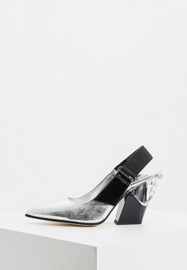 женские туфли loriblu, серебряные