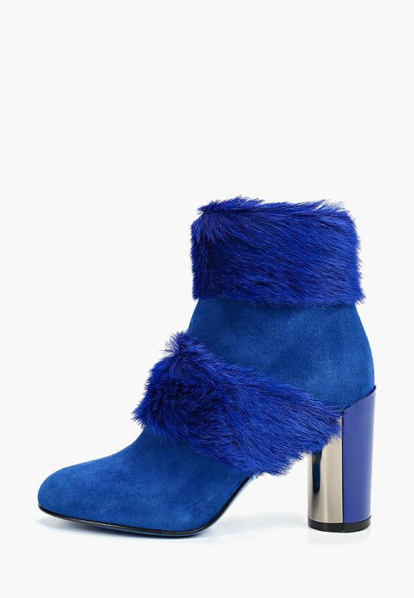 женские высокие ботильоны loriblu, синие