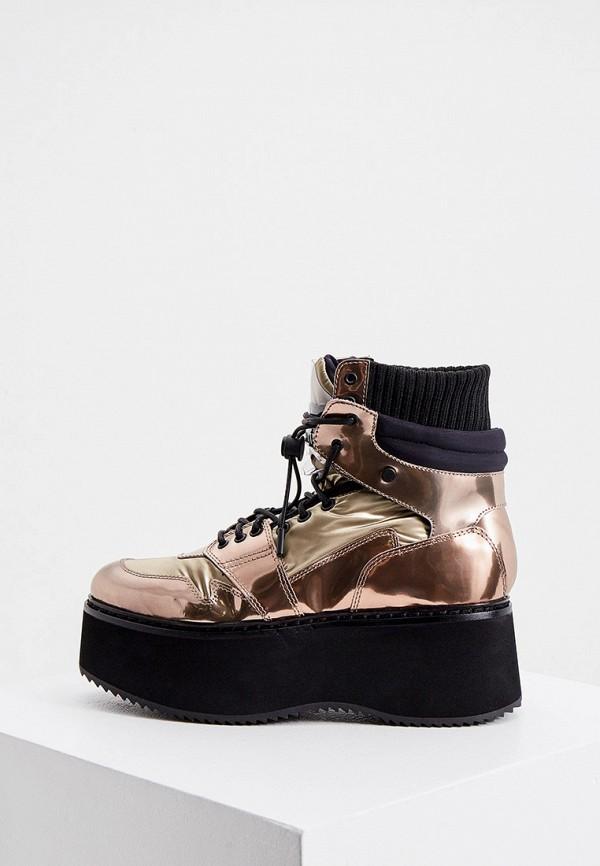 женские высокие ботинки loriblu, золотые