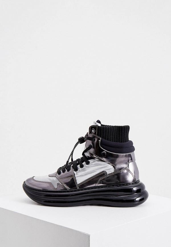 женские кроссовки loriblu, серебряные