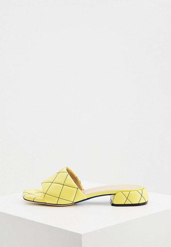 женское сабо loriblu, желтое