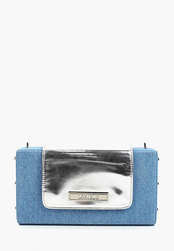 женская сумка через плечо loriblu, голубая