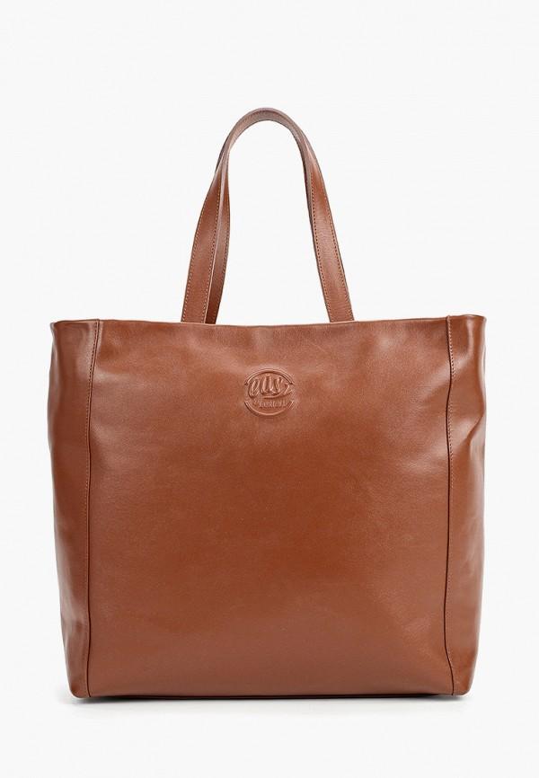 женская сумка с ручками loriblu, коричневая