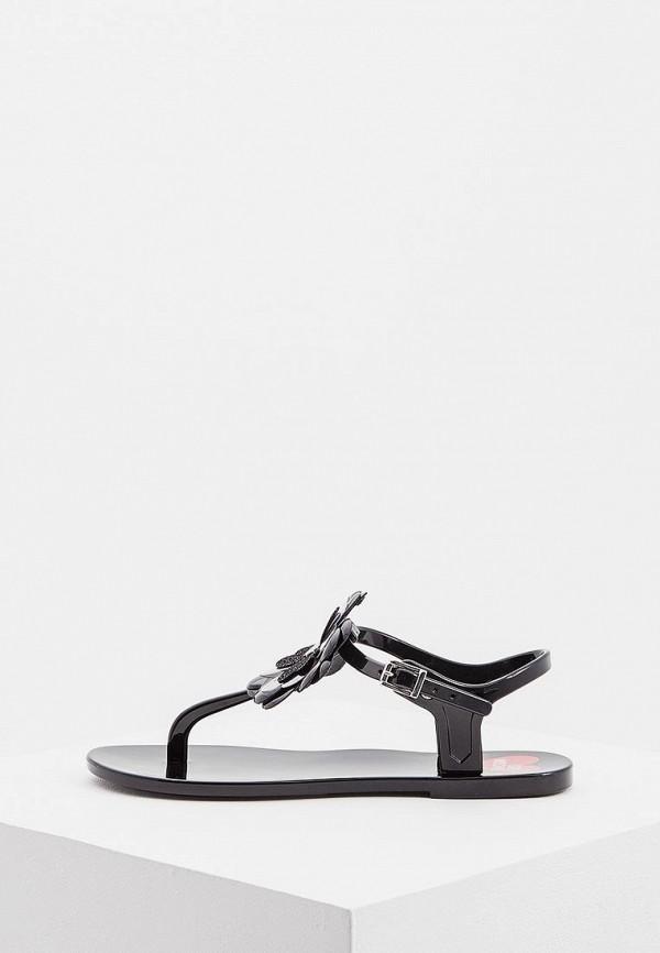 Женские черные итальянские сандалии