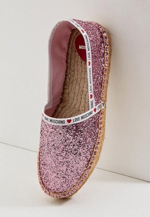 Фото 5 - Эспадрильи Love Moschino розового цвета