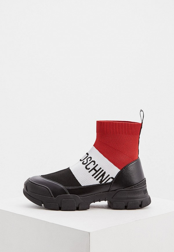 женские кроссовки love moschino, разноцветные