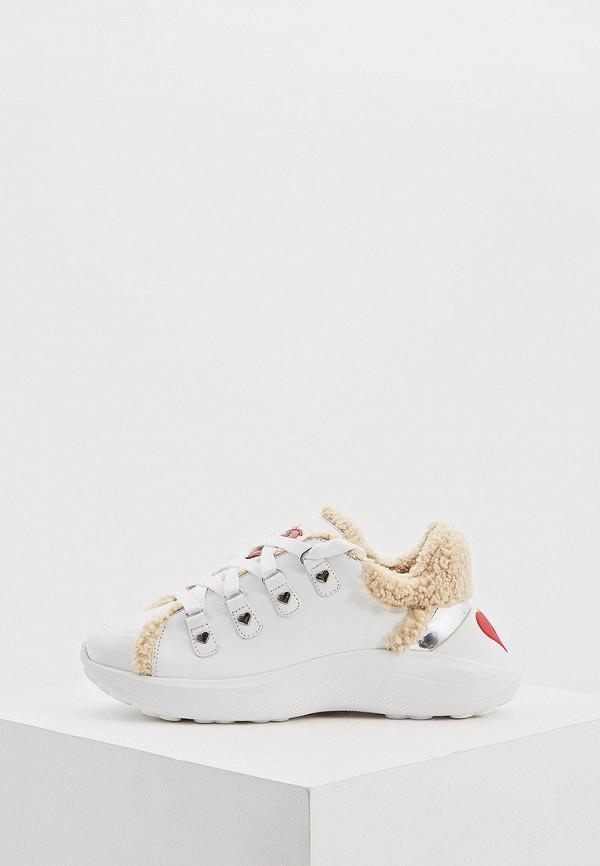 женские кроссовки love moschino, белые