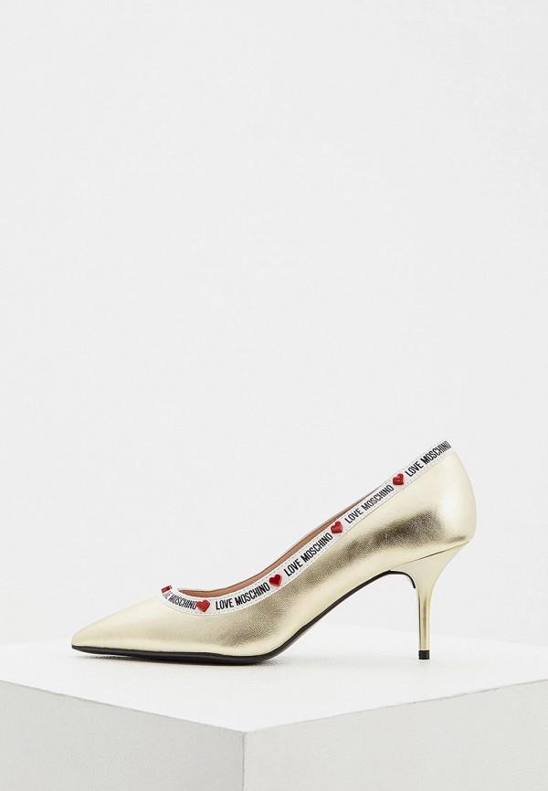 женские туфли love moschino, золотые