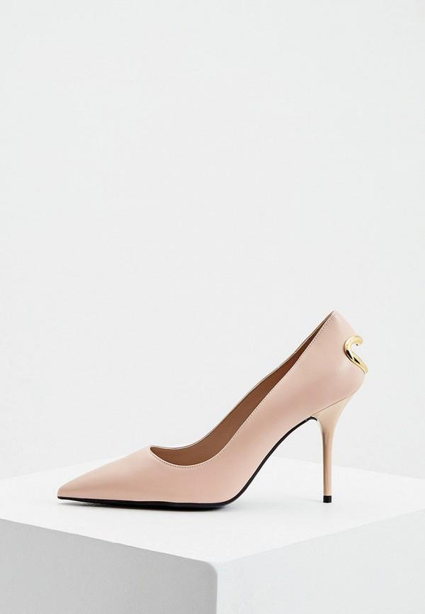 женские туфли love moschino, бежевые
