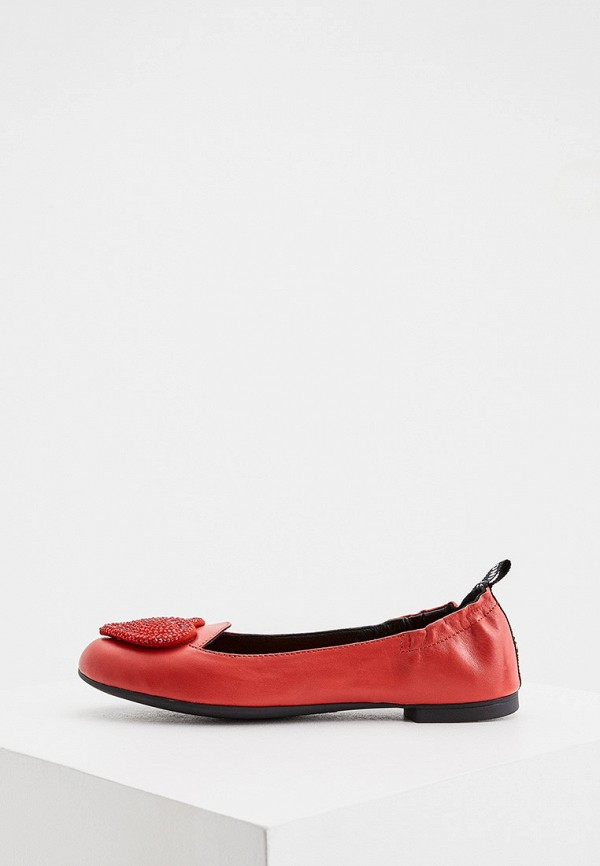 женские балетки love moschino, красные