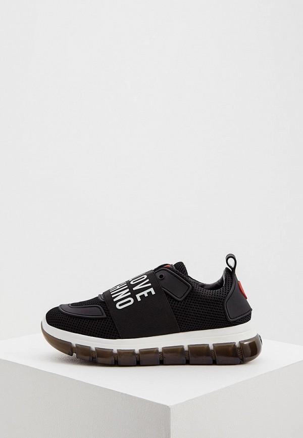 женские кроссовки love moschino, черные