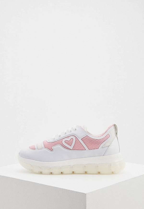 женские кроссовки love moschino, розовые
