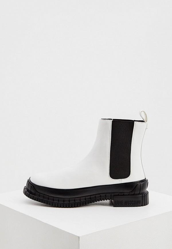 женские ботинки love moschino, белые