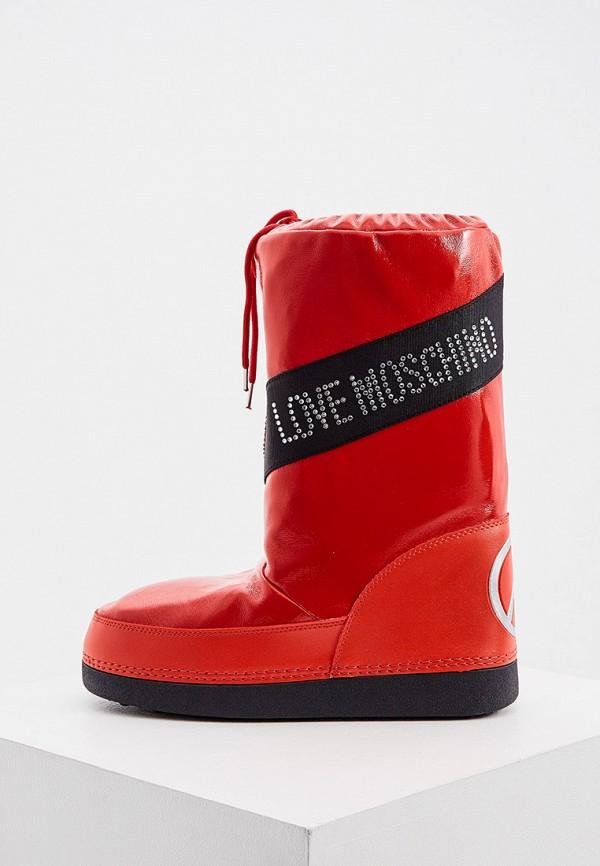 женские луноходы love moschino, красные