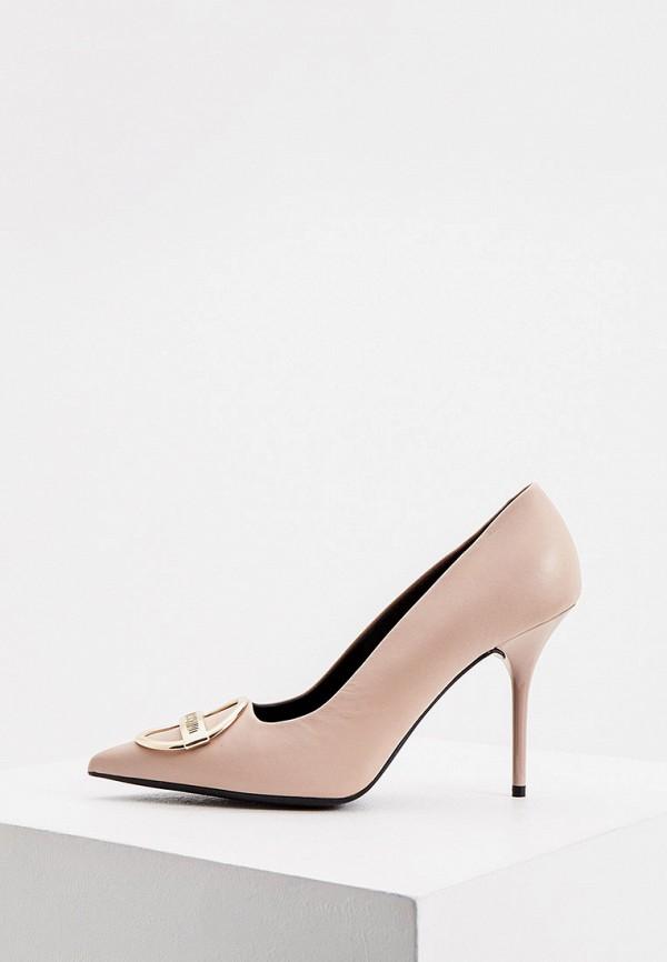 женские туфли love moschino, розовые