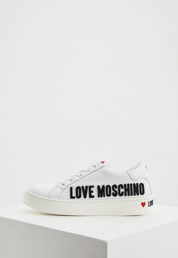 женские кеды love moschino, белые