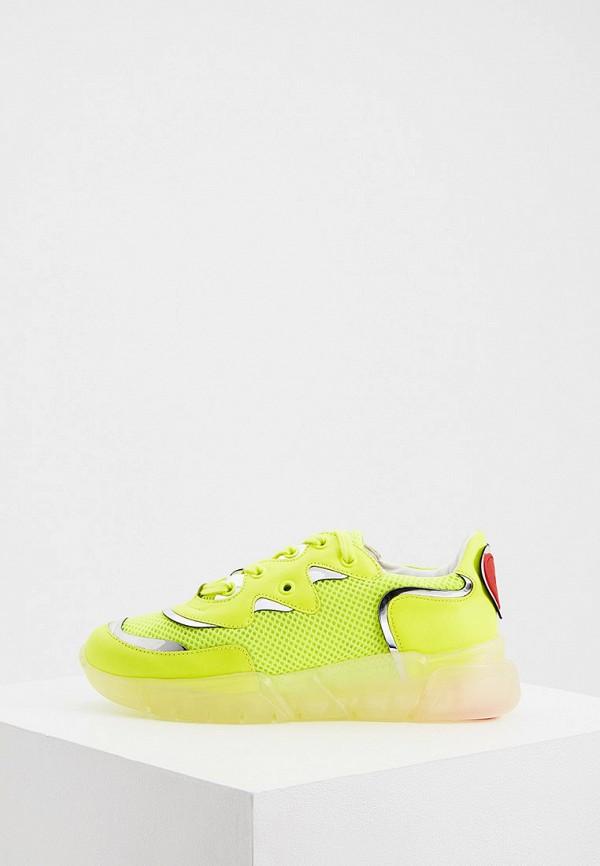 женские кроссовки love moschino, желтые