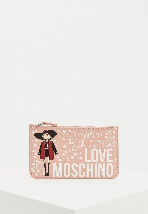 Купить Клатч Love Moschino, lo416bwdrnh9, розовый, Весна-лето 2019