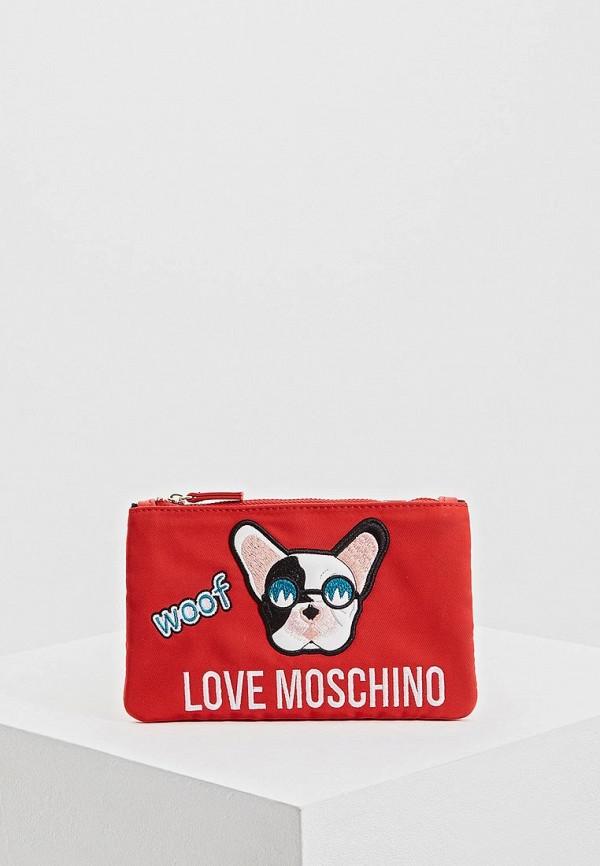 Купить Клатч Love Moschino, lo416bwdrni0, красный, Весна-лето 2019