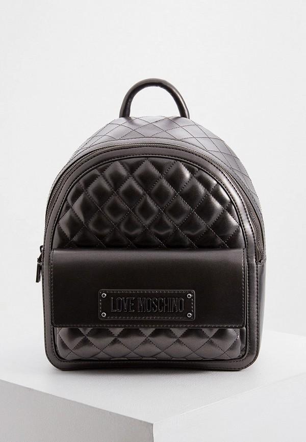 женский рюкзак love moschino, серый