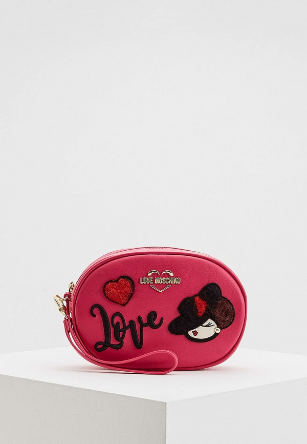женская сумка love moschino, розовая