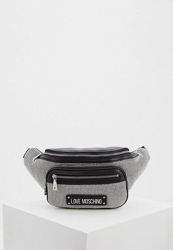 женская поясные сумка love moschino, черная