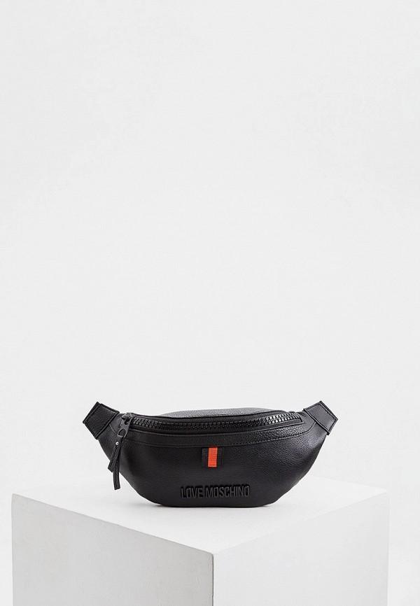 женская сумка love moschino, черная