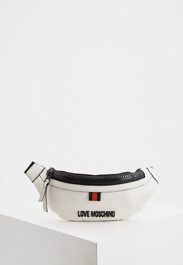 женская сумка love moschino, белая