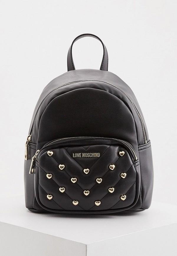 женский рюкзак love moschino, черный