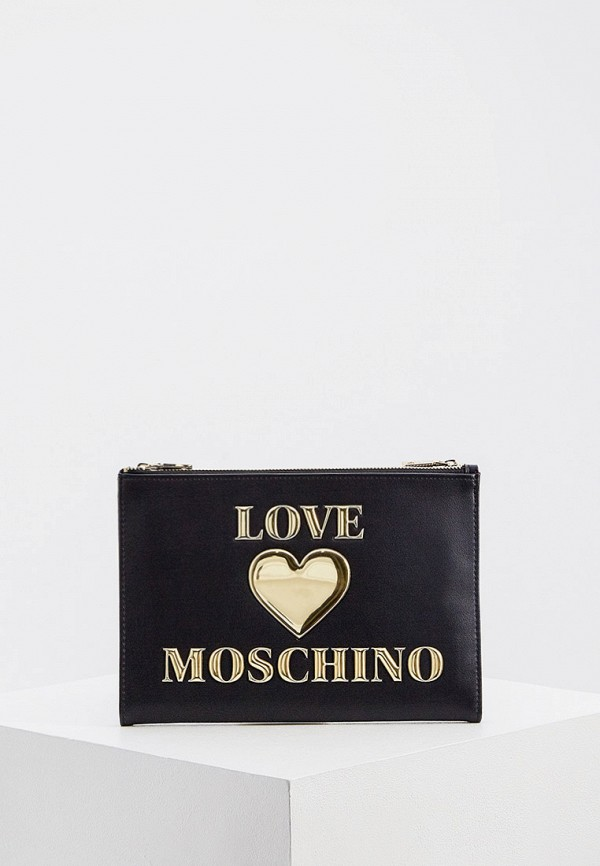 женский клатч love moschino, черный