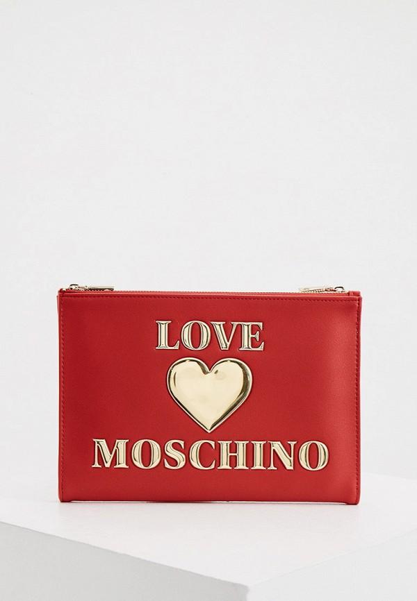 женский клатч love moschino, красный