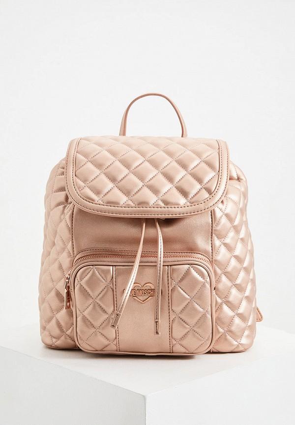 женский рюкзак love moschino, розовый