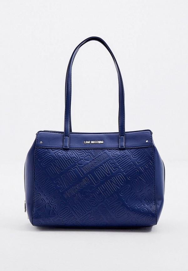 женская сумка love moschino, синяя