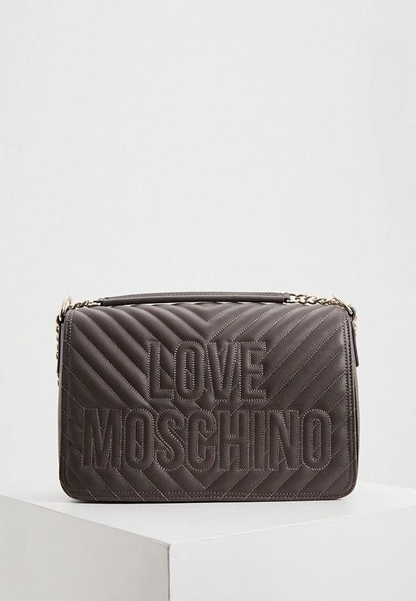 женская сумка love moschino, серая