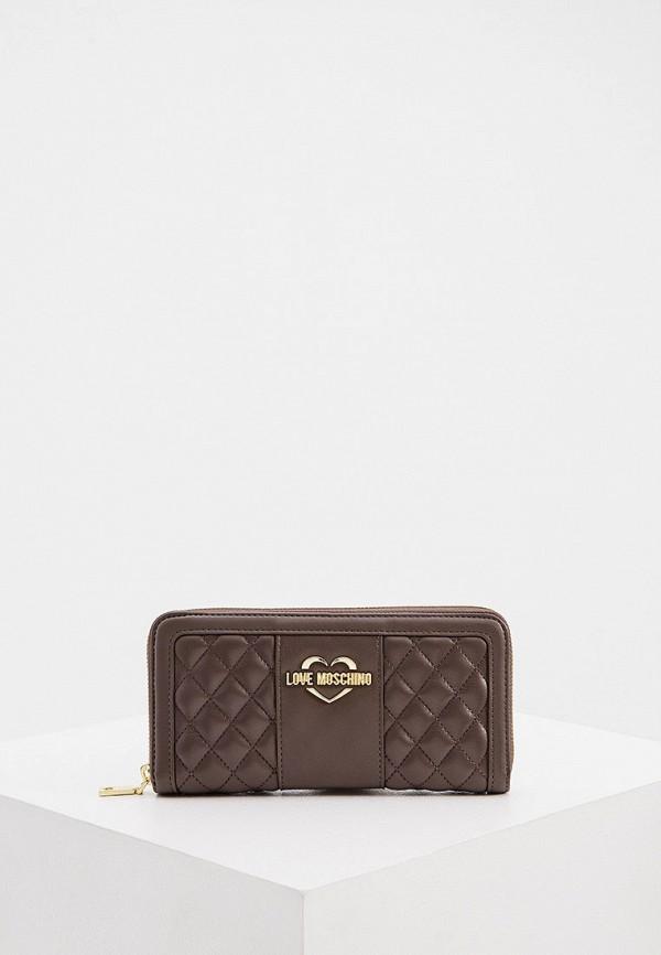 женский кошелёк love moschino, коричневый