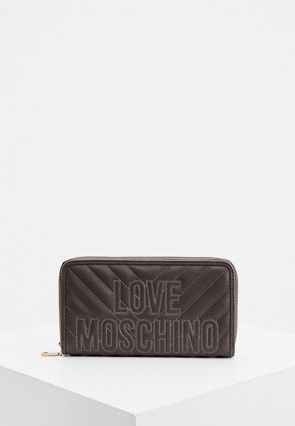 женский кошелёк love moschino, серый