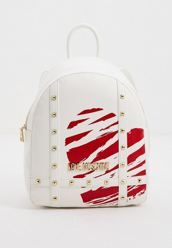женский рюкзак love moschino, белый
